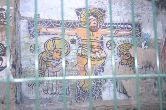 Grafite na área próxima ao Mercat Sant Josep de La Boqueria