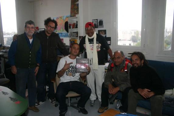(E) Pietro, Gilbert, Kongo, Paranaguá, Tucunaré e Veronique no estúdio na MAC