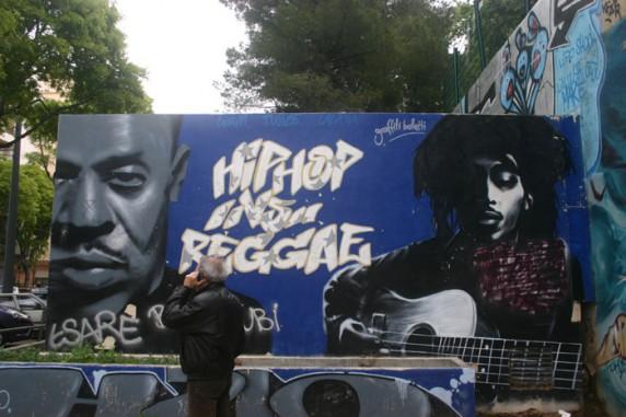 """Grafite no """"Hall of Fame"""" em Marselle"""